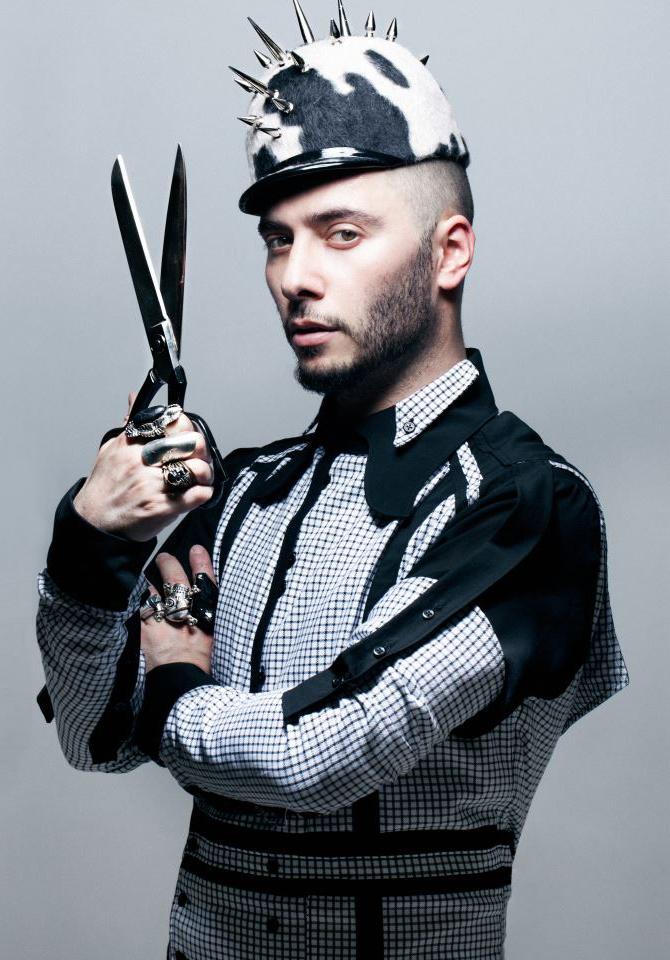 Leonid Gurevich is wearing NINH Collection shirt. Hat by Anya Caliendo.  Photo  Alena Soboleva.