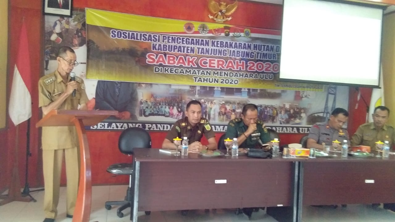 Pemerintah Kecamatan Menhul Gelar Sosialisasi Pencegahan Karhutla