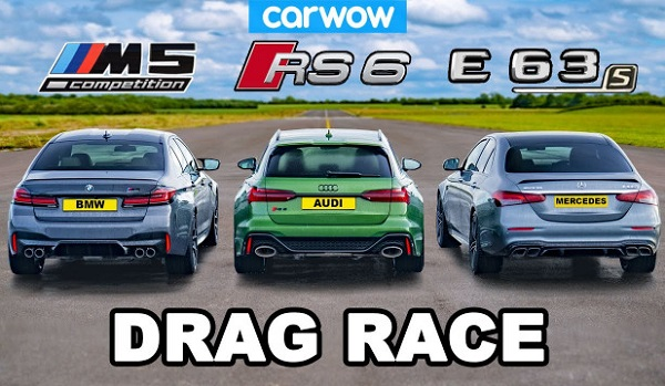 Carwow BMW M5 Competition vs Audi RS 6 Avant vs Mercedes AMG E 63 S