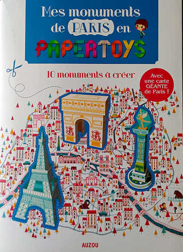 Mes monuments de paris en papertoys couverture