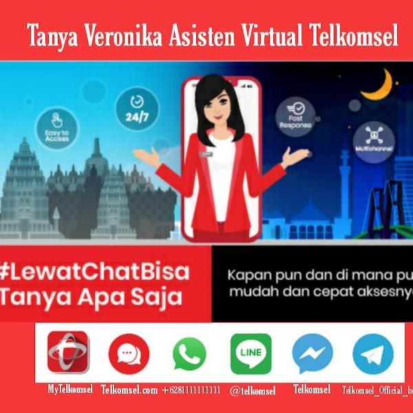 Tanya Veronika Asisten Virtual Telkomsel,  Layanan Virtual Pelanggan Telkomsel