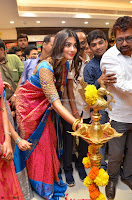 Puja Hegde looks stunning in Red saree at launch of Anutex shopping mall ~ Celebrities Galleries 024.JPG