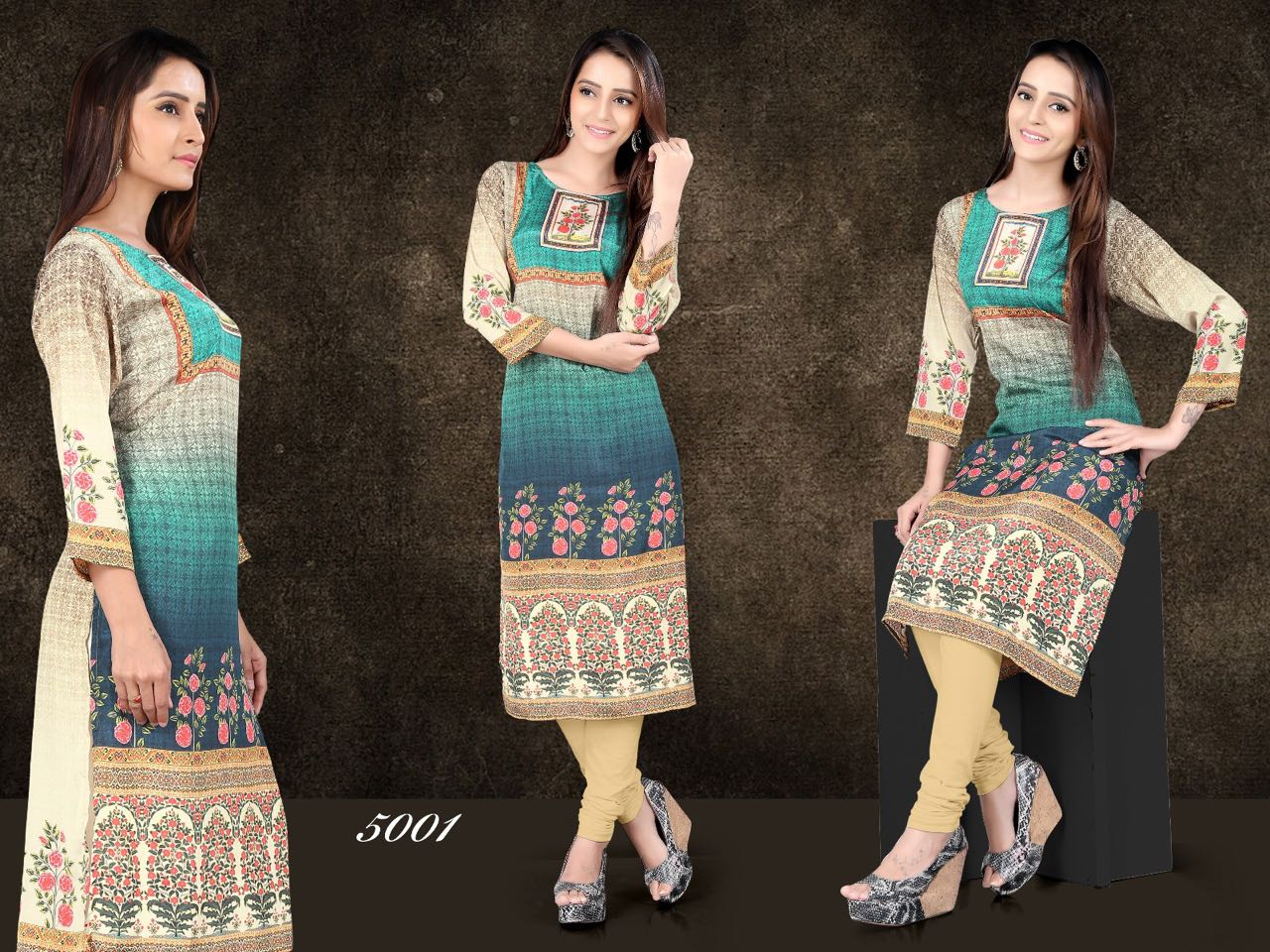 Chahat 2 – Silk Crepe Printed Kurti Exporter Wholesale