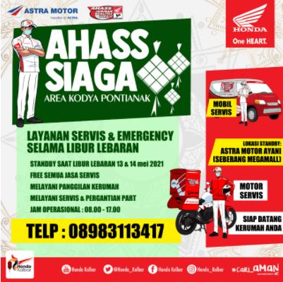 """AHASS SIAGA"" Service Motor di Hari Raya"