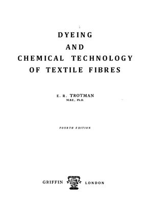 Dyeing and Chemical Technology of Textile Fibers | My Textile Books