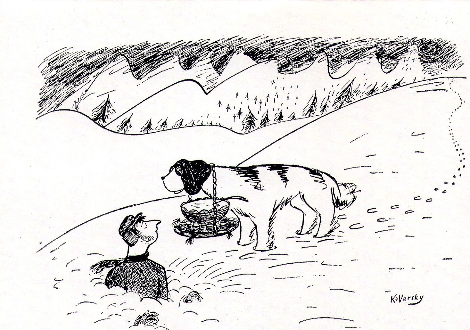 Mike lynch cartoons nyc anatol kovarsky new yorker gallery show at this was also a christmas greeting card for friends m4hsunfo