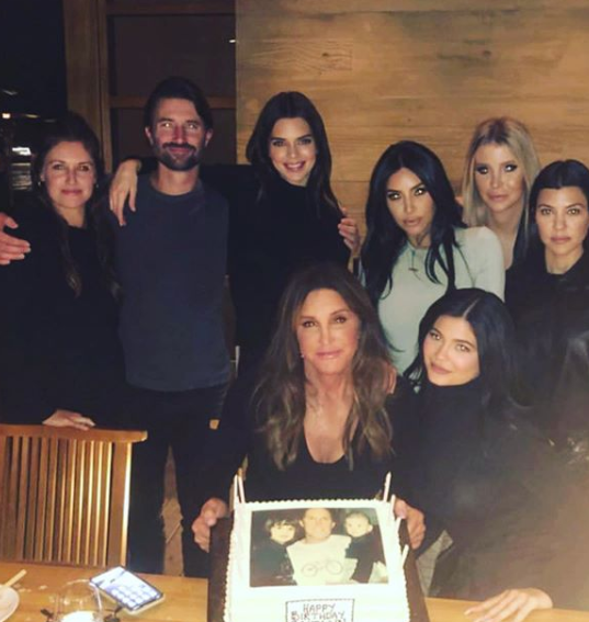 Chloe Kardashian is absent as Caitlin Jenner celebrates her 70th birthday with her family (Photos)