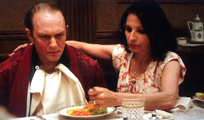 Tom Hardy as Capone with sister Rosie, played by Kathrine Narducci.
