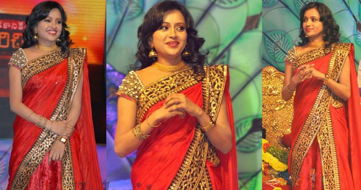 Suma In Designer Half Saree With Pearls Blouse Saree