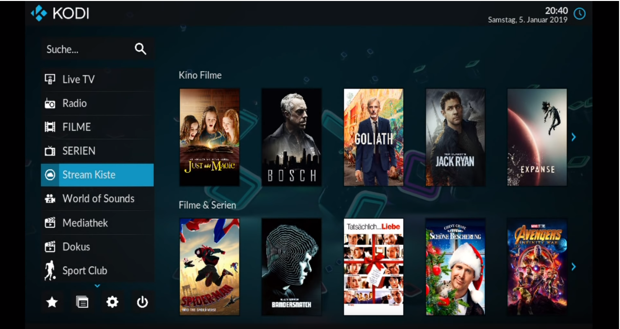 Kodi Skin for Vavoo Windows by Power Tornado debutante
