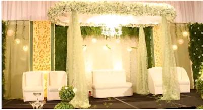 gambar dekorasi pernikahan modern bernuansa putih