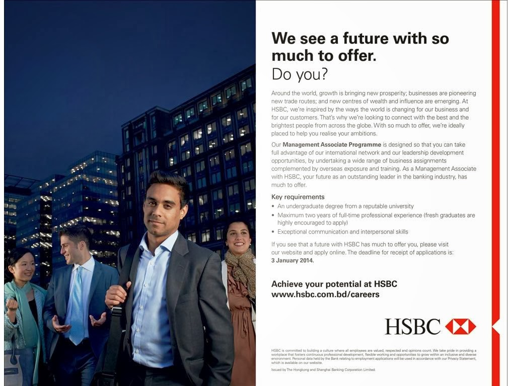 HSBC Career Management Associate - Jobs City Today 2017