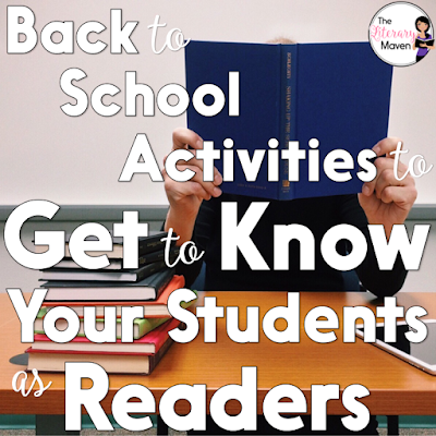 I've done a variety of activities on the first days of school, but I keep coming back to stations. Each year I choose activities based on the message I want to send to students about what is important in my classroom, mixed with the first day/week business that needs to be accomplished. This year my focus was on getting to know my students as readers and kickstarting my independent reading routine.