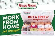 Krispy Kreme Promo Beli 6 Gratis 6 Donuts Via GoFood dan Grabfood