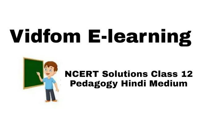 UP Board NCERT Solutions Class 12 Pedagogy Hindi Medium कक्षा 12  शिक्षाशास्त्र हिंदी में