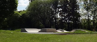 Skatepark at South Park in Cheadle Hulme