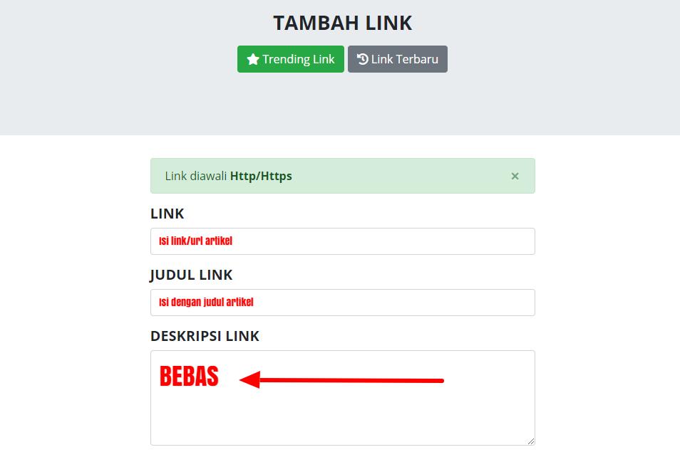 Gudang Link Tempatnya Berbagi Link 100% Gratis