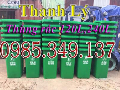 Thùng rác nhựa 240 lít