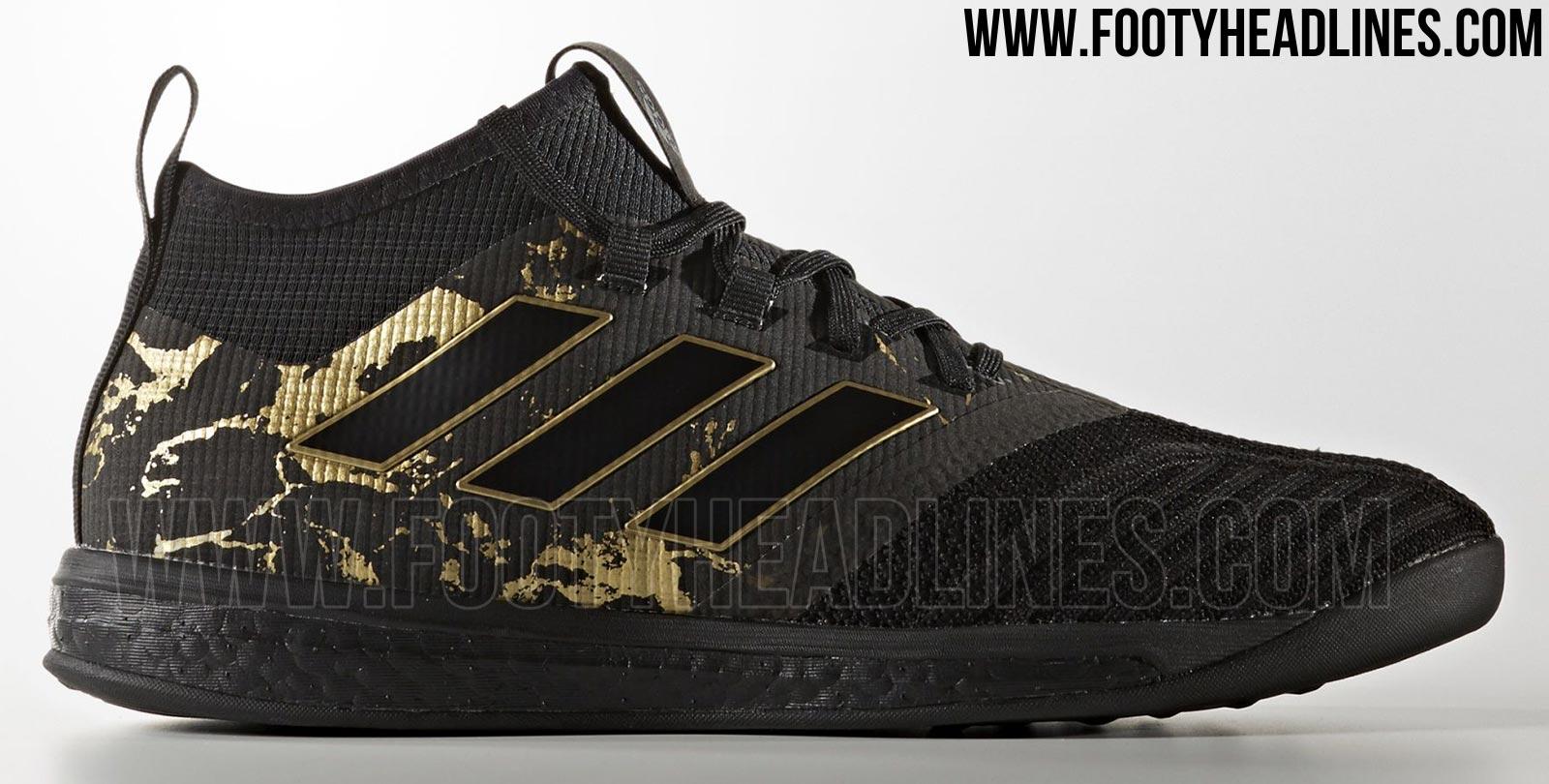 pretty nice 180f7 23868 Adidas Ace Tango 17.1 Trainer Paul Pogba - Black  Gold Metallic