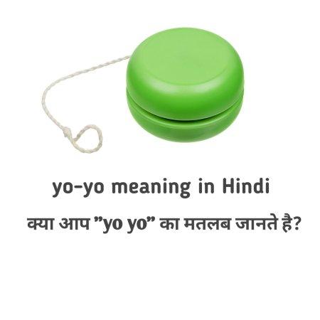 yoyo meaning in hindi