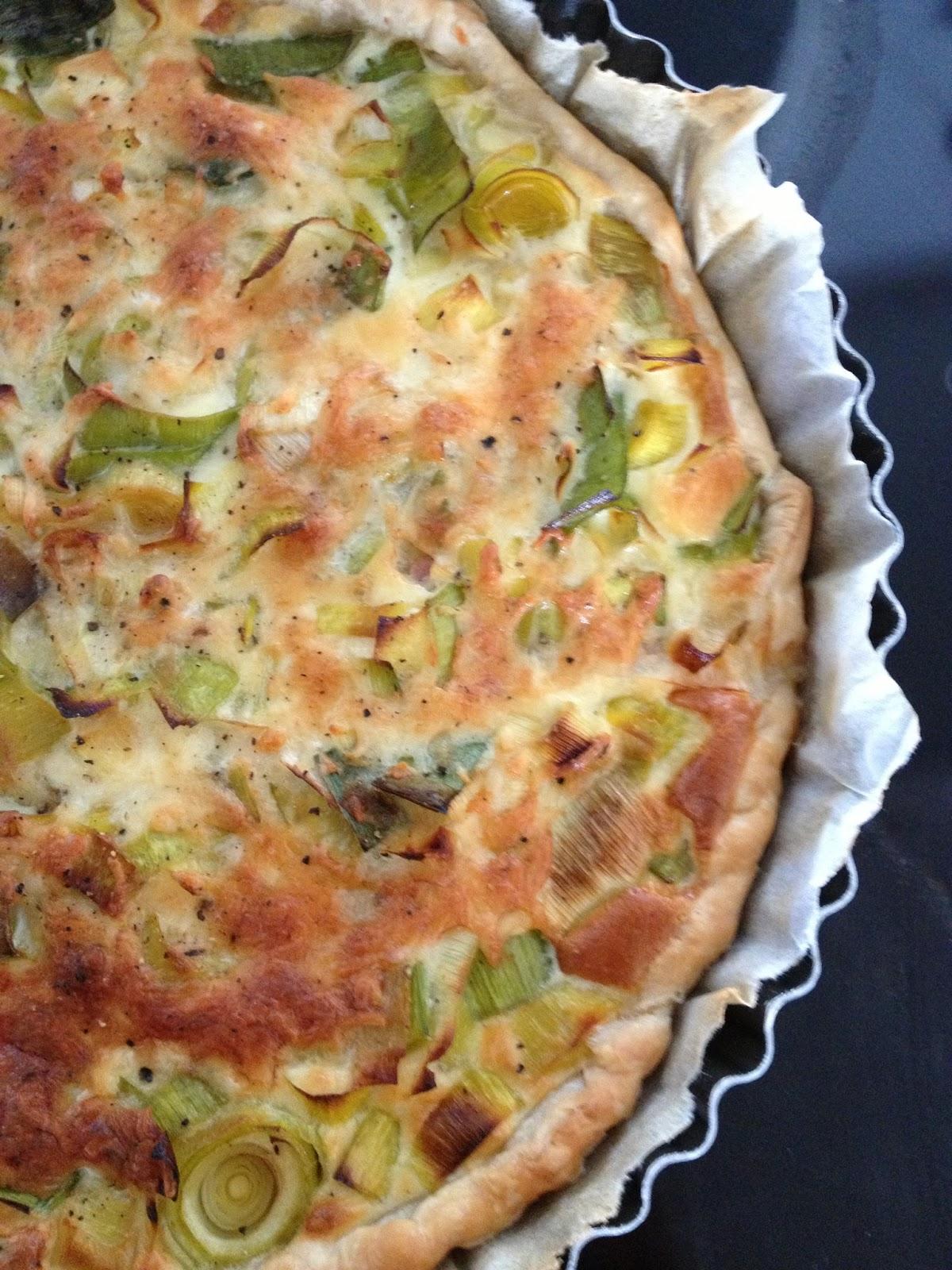 Sweet kwisine la tarte aux poireaux et au mascarpone - Tarte aux poireaux legere ...