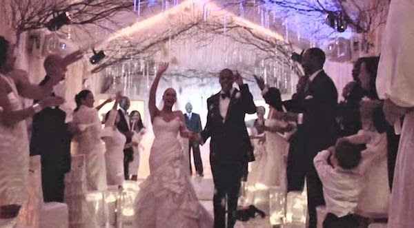 Beyonce And Jay Z Show Wedding Bare Pregnant Belly Baby Blue Ivy In Otr Music Video