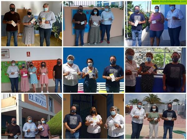 El Ayuntamiento de Los Llanos entrega más de 18.000 mascarillas entre los centros educativos del municipio para el alumnado de primaria