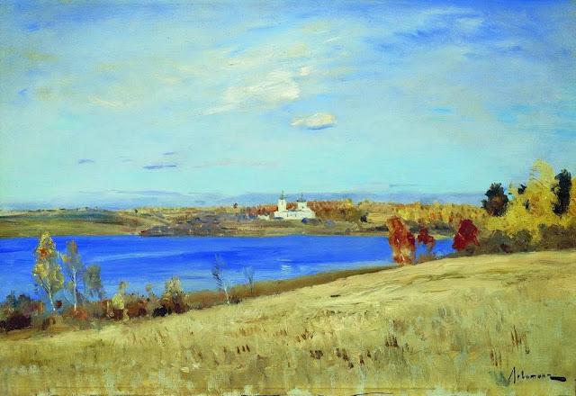 Исаак Ильич Левитан - Осень. Река. 1898-1899