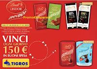 """Concorso """"Con Lindt vinci la tua spesa"""" : 48 Card da 150 euro da Tigros, Basko, Iperal e Poli"""