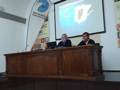 Fotografías Conferencia: El Buitre negro, un bioindicador del veneno en Andalucía. Por Rafael Arenas, 4 de Febrero 2020. Grupo Local SEO-Sevilla.