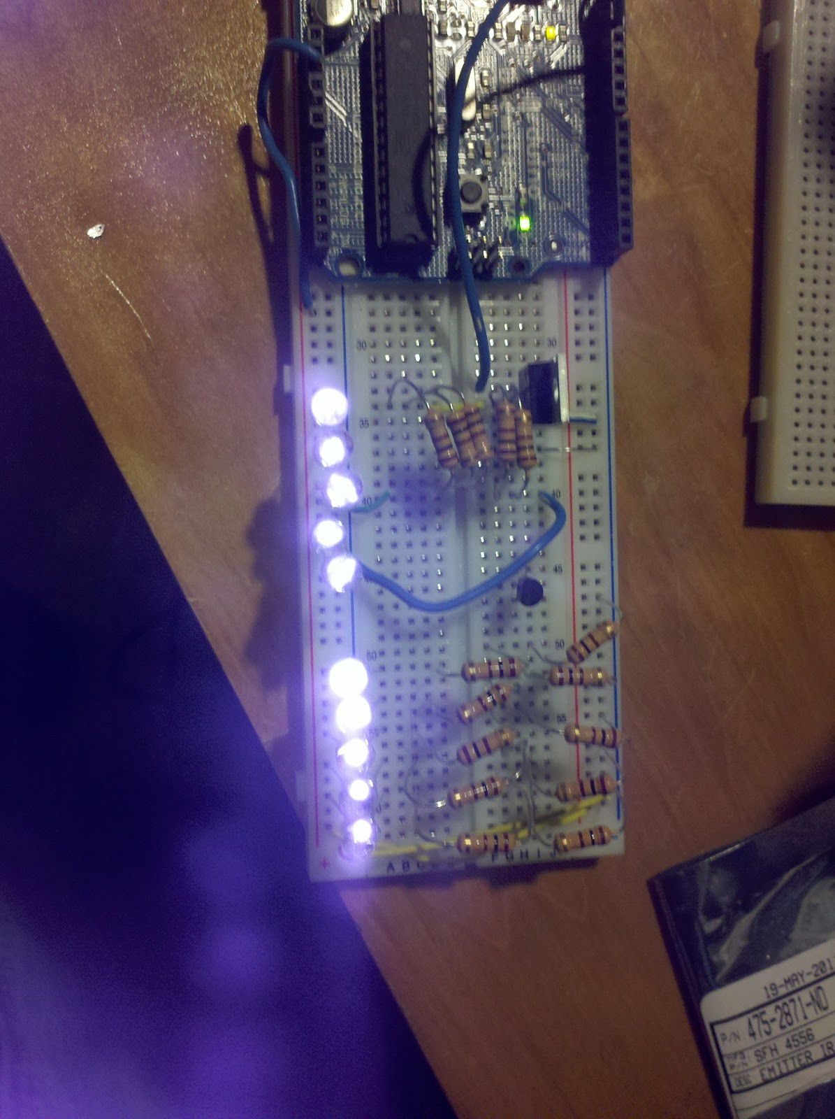 Siliconfish: IR LED speed/red light license plate photo blocker