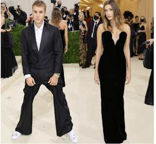 Justin Bieber and wife in black at Gala together