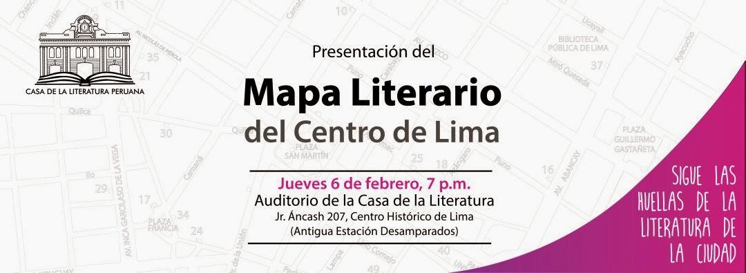 mapa literario del centro de lima, la casa de la literatura peruana