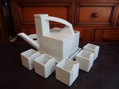白山陶器 1993年 角型冷酒器/乳白 定価:30,000円