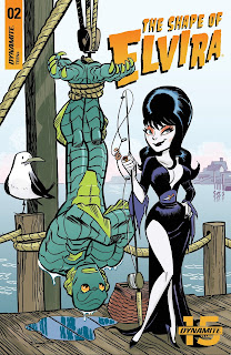 Cover B for The Shape of Elvira #2 from Dynamite Entertainment