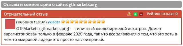 Компания GTFMarkets мошенники