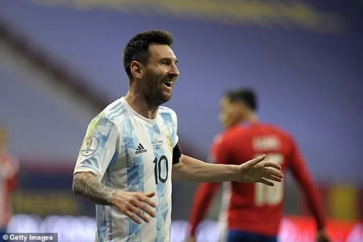 Messi equals Mascherano's record of 147 matches for Argentina