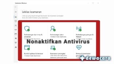 matikan antivirus
