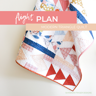 Flight plan baby quilt | Shannon Fraser Designs