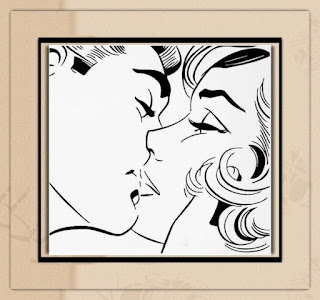 Kissing Couple Romantic Love Wall Art for Bedroom
