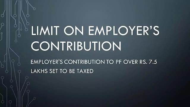 Limit on tax-free employer contribution to retirement funds