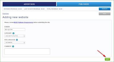 Hướng dẫn đăng ký tài khoản mạng quảng cáo Mgid