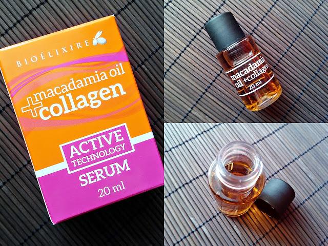Bioelixire, Macadamia Oil + Collagen - Serum do włosów
