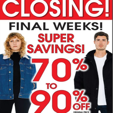 American Apparel Closing Sale 70-90% Off