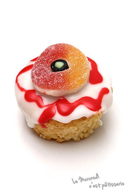 """Muffins nature - décoration """"oeil de monstre"""""""