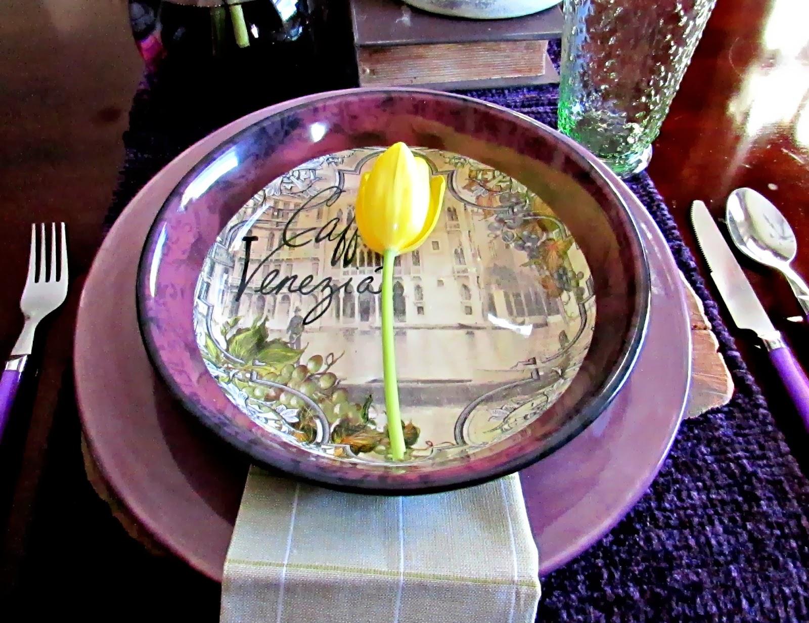 Pasta Dish Tablescape