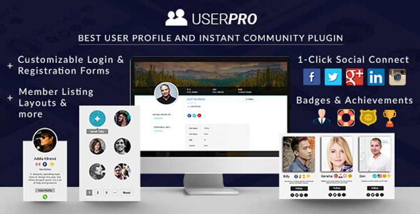 Quản lý thành viên hỗ trợ đăng nhập qua mạng xã hội với plugin UserPro