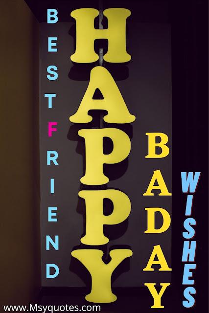 Best Friend Happy Baday Wishes Card