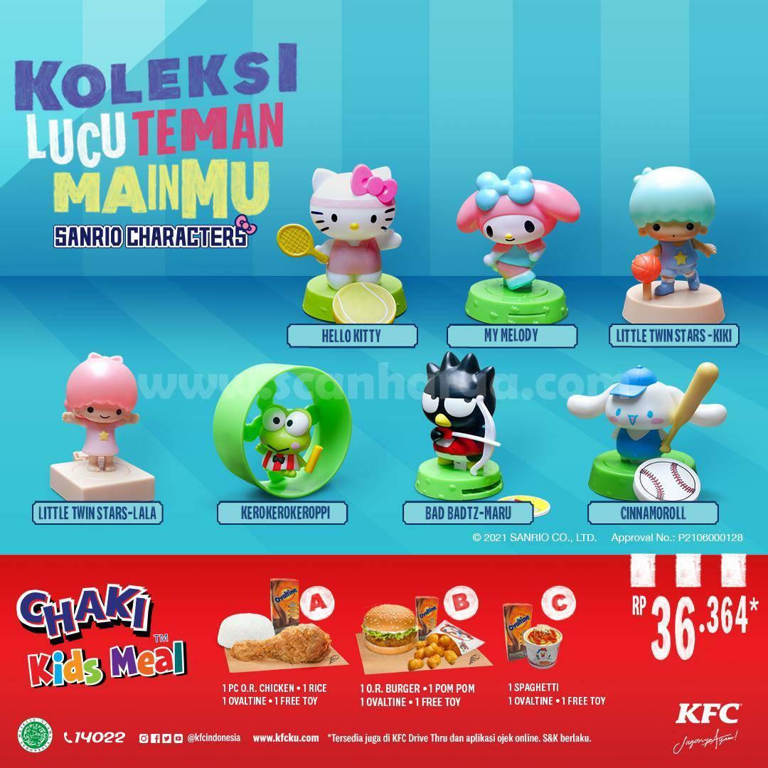 Promo KFC Chaki Kids Meal (CKM) Terbaru harga mulai Rp. 36.364*