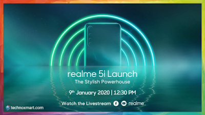 Realme 5i Launch Today At 12:30PM In India: How To Watch Live Stream, Expected Price, Specs, More